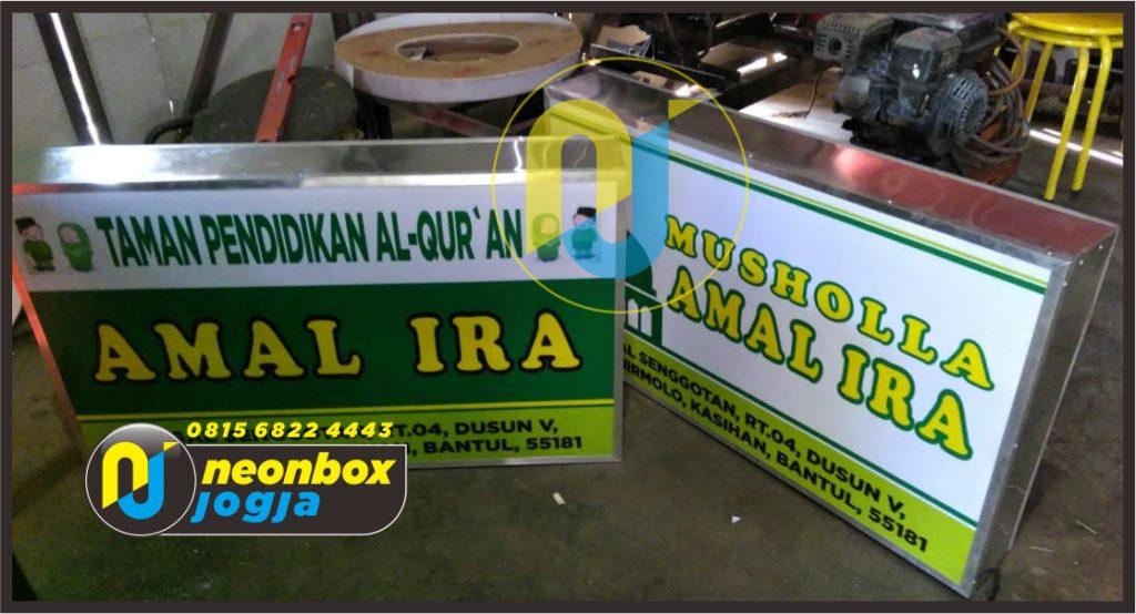 Jasa Pembuatan pemasangan Neon Box Murah di Jogja